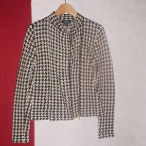 Chaps Zip Front Cardigan Sweater Jacket M
